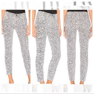 Current Elliot 27 The Stiletto Animal Print Jeans